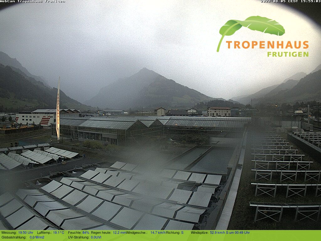 Webcam am Tropenhaus Frutigen